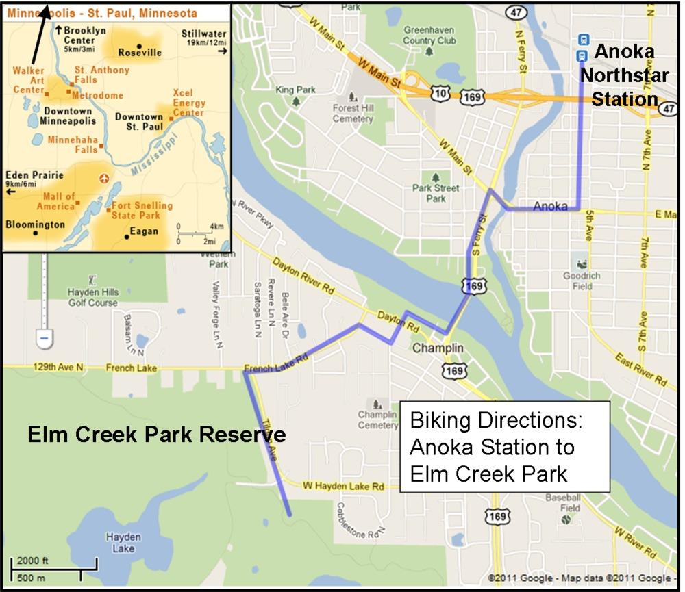 elm creek park and coon rapids park north star exploration