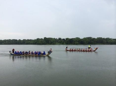 Dragon boat race on Lake Phalen