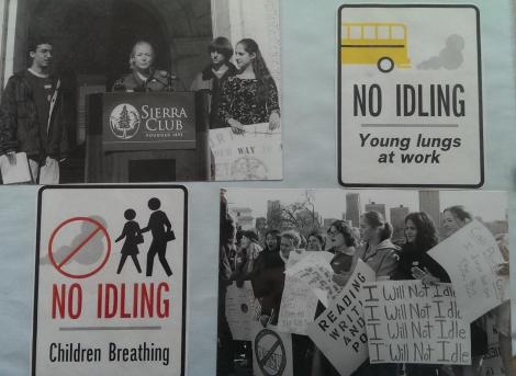photo: 2001 Rally at the State Capitol and Sample No Idling images used for school outreach/signs
