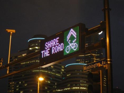 Bike safety message