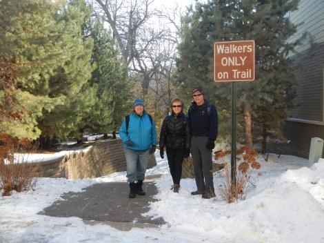"""At the """"secret entrance"""" to Nine Mile Creek"""