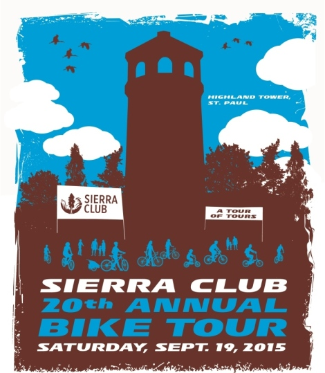 Sierra Club 20th Annual Bike Tour Poster