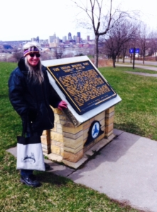 Karin duPaul, our Dayton's Bluff guide, at Mounds Park